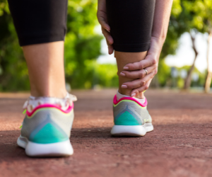 Summer heat can often lead to swollen legs and joints.